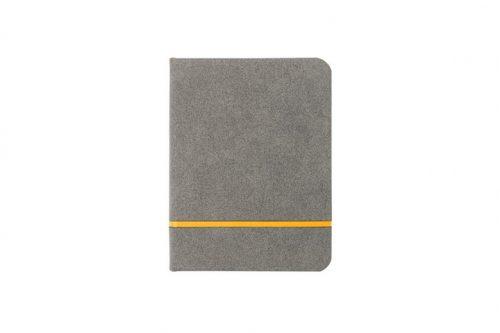 Żółty zamszowy notes formatu A6