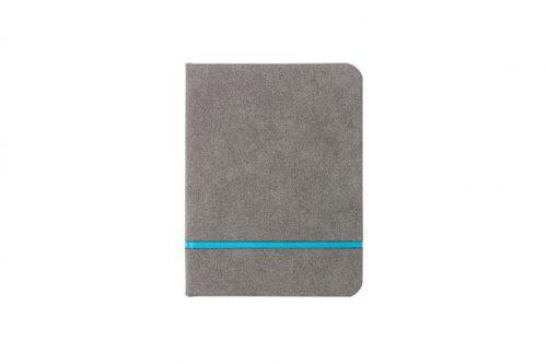 Estetyczny notes w kratkę z turkusowym paskiem