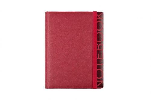 Czerwony notes z papieru z kamienia