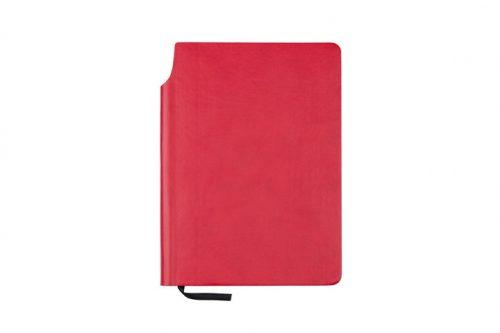 Czerwona okładka z kieszonką na długopis