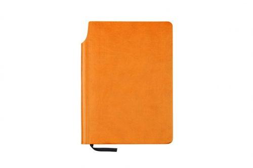 Pomarańczowa okładka zeszytu z kieszonką