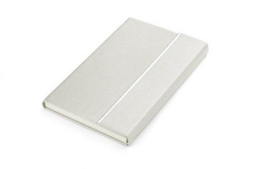 Elegancki biały notes z blaszką