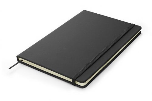 Czarny notes A5 z możliwością nadrukiem