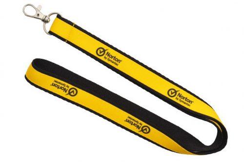 Smycz czarno-żółta - 15x20mm