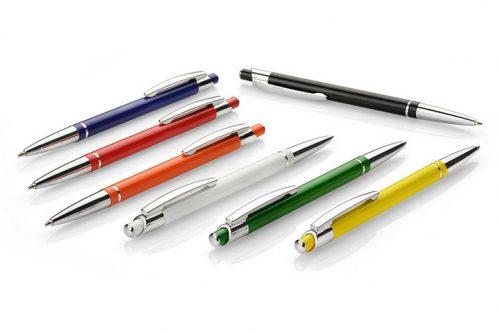 Długopisy Slim w różnych kolorach