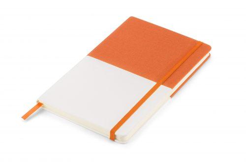 Twin - pomarańczowo-biały notes z nadrukiem Twojego LOGO