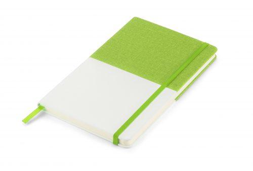 Twin - zielono - biały notes z nadrukiem Twojego LOGO